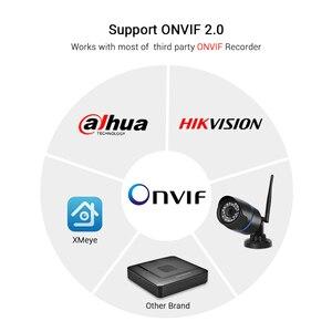 Image 5 - Hamrolte caméra de surveillance Bullet extérieure IP Wifi 5MP, étanche, sans fil, avec enregistrement Audio IE, navigateur internet Xmeye Cloud RTSP iCSee