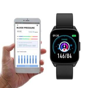 Image 3 - SENBONO KW17 pasek do smarwatcha mężczyźni kobiety zegarek sportowy pulsometr pomiar podczas snu Smartwatch tracker dla IOS Android