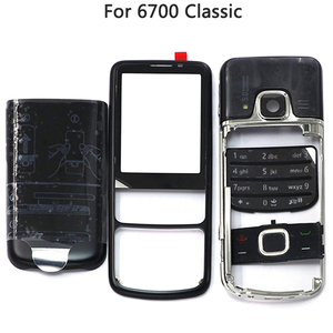 Image 3 - New 6700 Full Housing Case For Nokia 6700 Classic 6700C Rear Metal Battery Cover Front Middle Frame Plate Back Cover