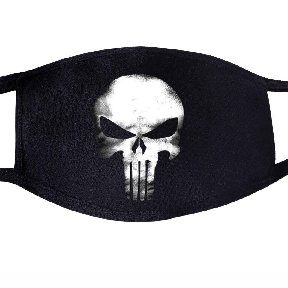 Skull Hip Hop Swag Cool Face Mask Mouth Unisex Black Half Mouth Anti Dust Anti-bacterial Quarantine Dust Punk Rock Masks