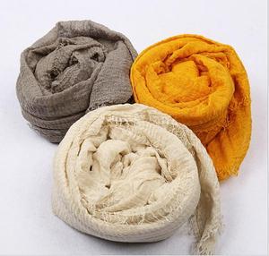 Image 3 - Bubble Cotton Womens Scarf Wrinkled Muslim Hijab Viscose Fringe Islam Solid Color Turban Headscarf Wrap Long Shawl Foulard