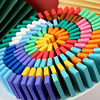 120Pcs Domino Toys Rainbow Wood Domino Blocks Jigsaw Toys For Children Montessori Early Learning Dominoes Games Educational Toys