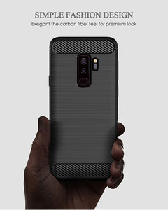 Image 2 - سيليكون قضية الهاتف لسامسونج غالاكسي S9 زائد لينة غطاء من ألياف الكربون الوفير GalaxyS9 SM G965F G960F S9plus S 9 9 Plus SM G960F