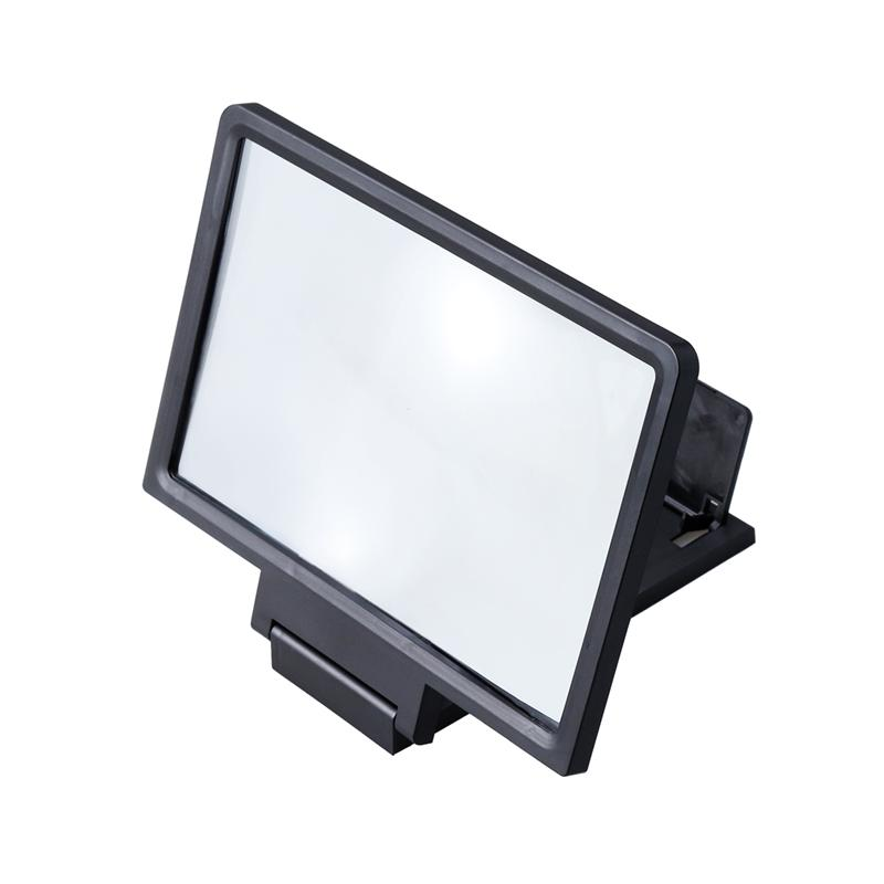 Universal Screen Magnifier Cell Phone HD Movie Video Amplifier with Foldable Holder Stand (Black) image
