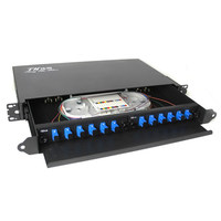 Rack Mount fiber termination box patch panel optical distribution frame ODF for SC 12 core pigtail