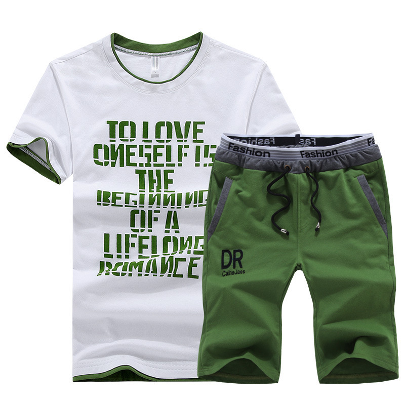 Summer DR Sports Short Sleeve Set Men's Spring Gym Running Sports Clothing T-shirt MEN'S Casual Shorts Men's