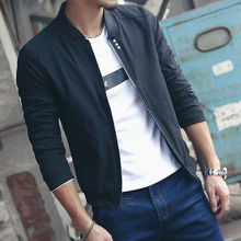 Meihuida Plus Size Men Smart Casual Bomber Zipper Jacket Coat Male Streetwear Sl