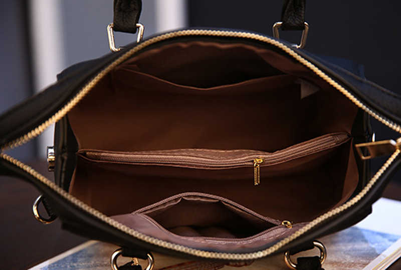 Smooza Vrouwen Tas Pu Lederen Handtas Vrouwen Schoudertas Tote Een Mainpendant Luxe Designer Dames Messenger Bag