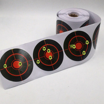 100/250pcs/Roll Shooting Adhesive Targets Splatter Reactive Target Sticker for Gun Rifle Pistol Binders Hunting Accessories Hot фото