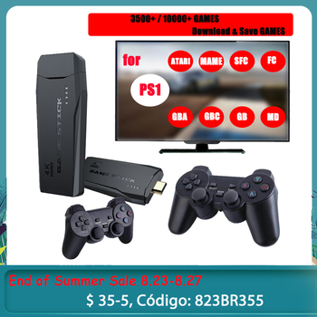 Video Game Consoles 4K HD 2.4G Wireless 10000 Games 64GB Retro Mini Classic Gaming Gamepads TV Family Controller For PS1/GBA/MD 1