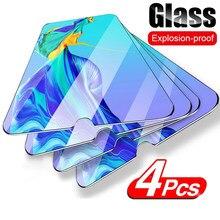 4 pçs vidro de proteção temperado completo para huawei p30 p20 p40 lite p smart 2019 z protetor de tela para huawei companheiro 10 20 lite vidro