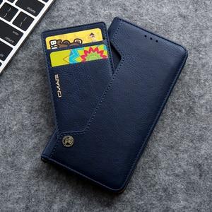 Image 1 - Gizli rotasyon kartları tutucu cüzdan kılıf Samsung S20 Ultra not 10 + 8 9 S8 S9 S10 artı S7 kenar Flip deri telefon kılıfı çapa