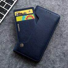 Verborgen Rotatie Kaarten Wallet Case Voor Samsung S20 Ultra Note 10 + 8 9 S8 S9 S10 Plus S7 edge Flip Leather Telefoon Case Capa