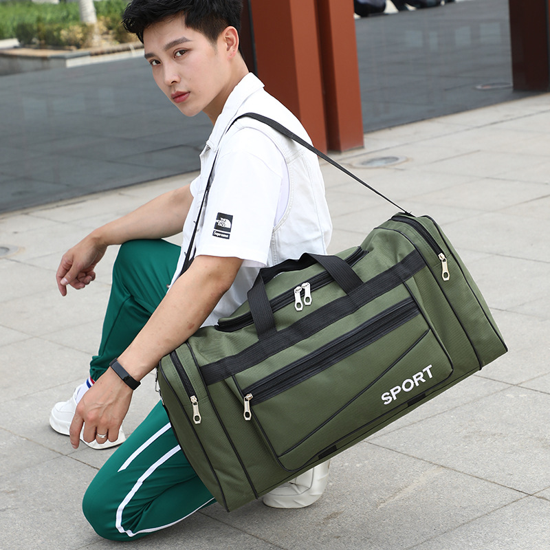 Large-capacity Sports Fitness Bag Short-distance Travel Bag Customized Duffel Bag Dry And Wet Separation Shoe Seat Cylinder