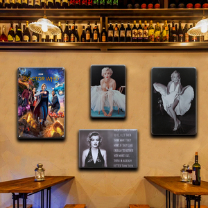 Винтажная Сексуальная булавка для девочки, металлическая жестяная вывеска, Титаник Мэрилин Монро, художественный постер, значки в стиле ре...