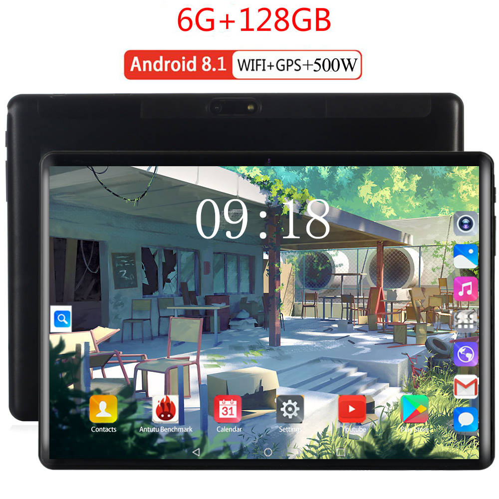 100% Orignal Super Tempered 2.5D Glass 4G FDD LTE 10 Inch Tablet Pc Octa Core 6GB RAM 128GB ROM WIFI Android 8.0 Tablets 10.1