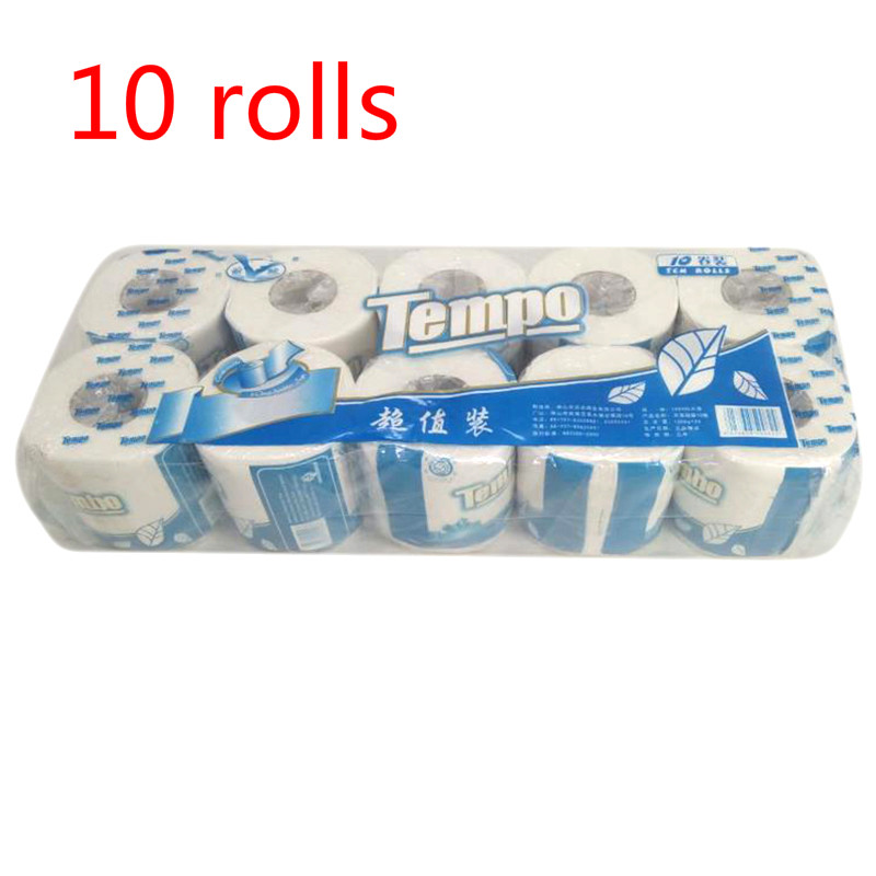 US 10 Rolls 3-Ply Toilet Paper Soft Skin-friendly Paper Roll Towels Professional Series Home Kitchen Toilet Tissue Fast Shopping