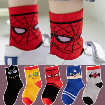 Cotton Baby Kids Socks Autumn Cute Cartoon Boys Sport Socks Comfortable Print Winter Children Socks 5 Pairs/lot Girls Socks 5pairls lot boys girls pure white socks for children baby cotton soft kids socks loose comfortable toddler black white socks