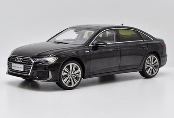 1:18 Diecast Model for Audi A6L 2019 Black Sedan Alloy Toy Car Miniature Collection Gifts A6 S6 image
