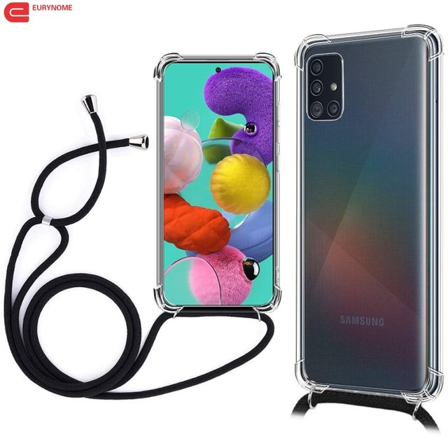 Case For Samsung Galaxy S20 Ultra S10 S9 Note 10 Plus A71 A51 A91 A81 A01 A21 A31 A41 A70 A50 Crossbody Necklace Lanyard Cover
