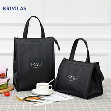 Brivilas new food lunch bag for women cooler portable hand zip bags waterproof picnic travel breakfast thermo high quality