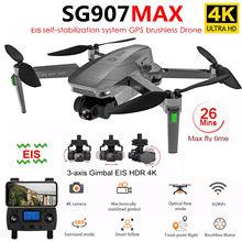 SG907 MAX 4K Dron GPS 5G WiFi z 3-Axis Gimbal ESC 25 minut lotu profesjonalne zdalnie sterowany Quadcopter Dron SG906 PRO 2