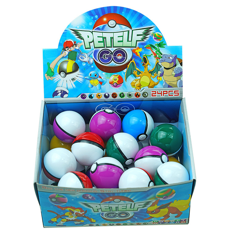 5cm 24pcs/Set Pokemoned Figures Cartoon PetElf Ball Pokeball Lot Creative Model Anime Toy Master Ball Pocket Pokemoning Ball