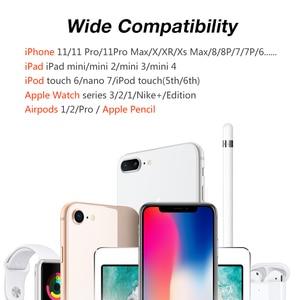Image 2 - 4 in 1 DIY masa Apple için şarj Dock standı standı masa şarj telefon tutucu istasyonu iPhone X/8P/7/6/SE şarj Airpods için