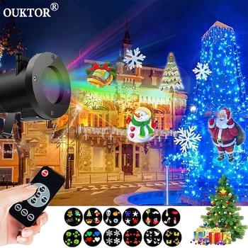 Outdoor Laser Projector Lights 12 Patterns Sky Star Led Stage Spotlight Showers for Christmas Garden Lights Xmas Decoratio