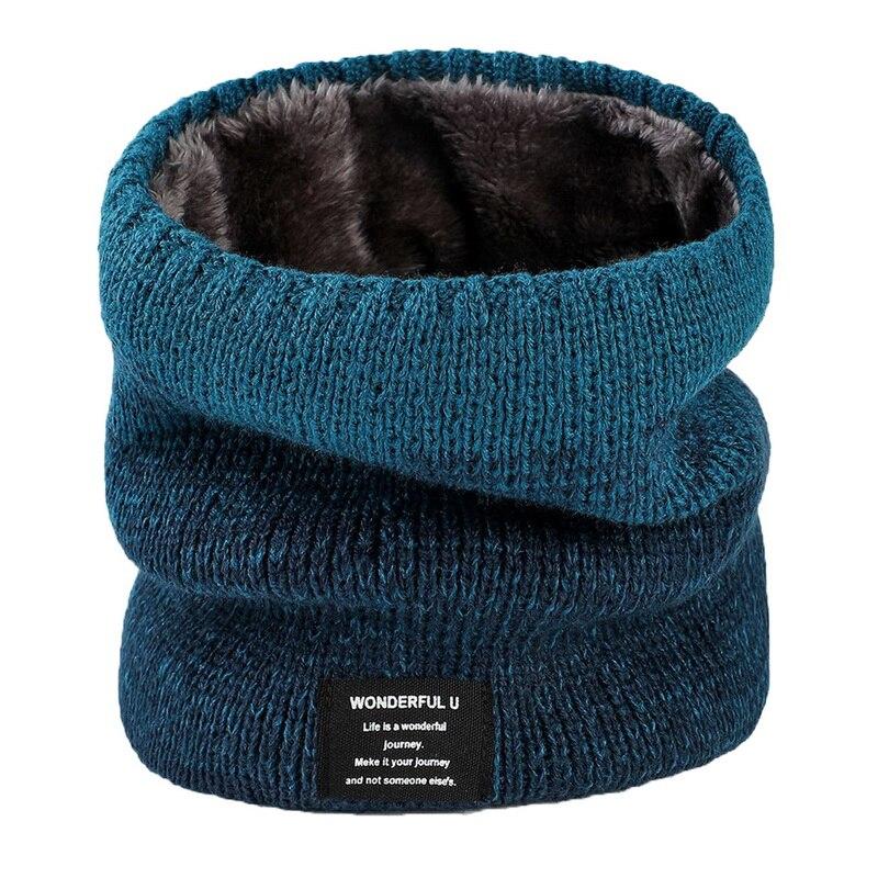 Unissex malha quente cachecol inverno outono anel feminino bandana sólida lenço de lã masculino bandana pescoço cachecol xale Cachecóis    -