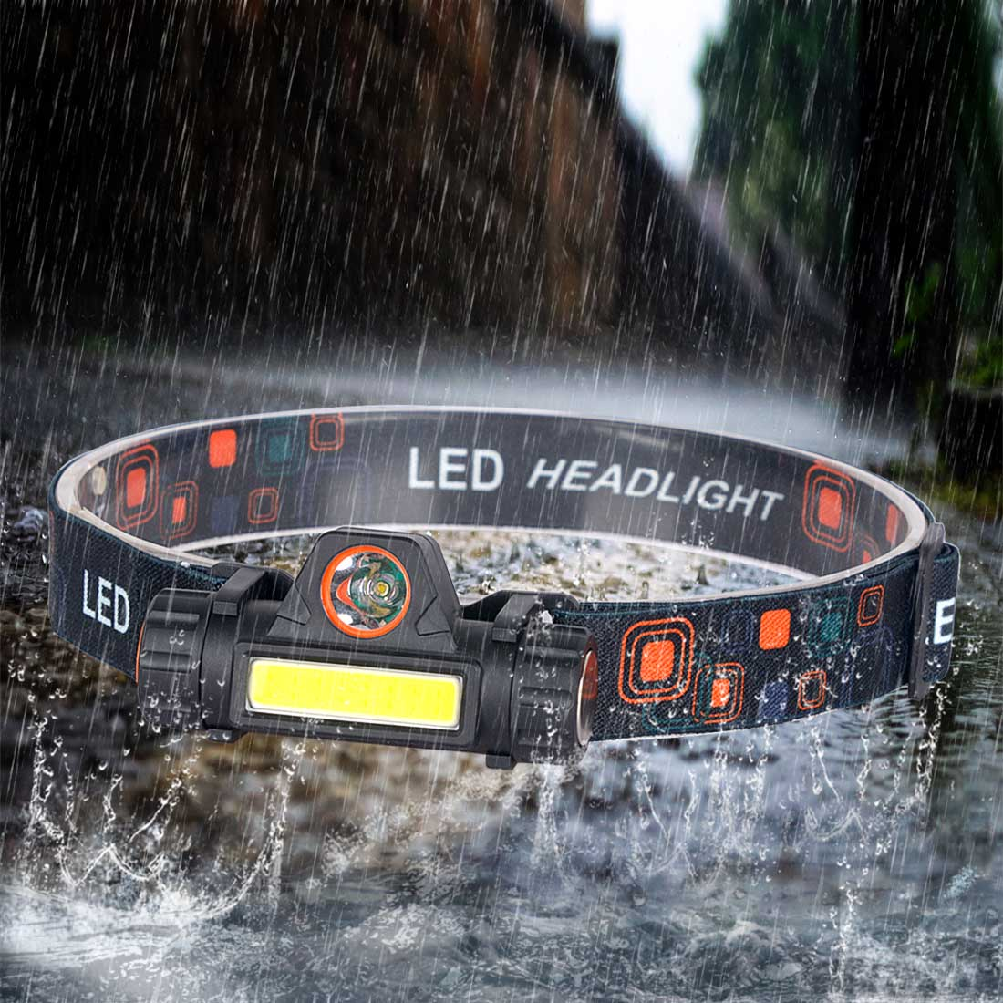 Built-in 18650 Battery LED Headlamp COB Work Light 2 Light Mode With Magnet Waterproof Headlight Suit For Fishing Head Lamp