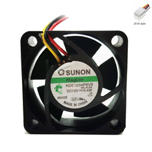 цена на 2pcs Sunon KDE1204PKV3 4020 40X40X20MM 4CM DC 12V 0.40W server inverter cooling fan