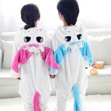 Фланелевый единорог, 1 предмет, сиамский Пижамный костюм с животными, Детская домашняя одежда кораллового цвета, утолщающий для туалета, версия детской пижамы aTST0143