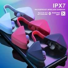 B6 sem fio bluetooth 5.0 suporte apt-x ipx7 esportes de atualização à prova dwaterproof água em fones de ouvido bluetooth
