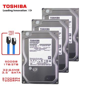 "Toshiba 500GB desktop computer hdd 3.5"" internal mechanical hard disk SATA3 6Gb/s hard disk 1TB 2TB 5700-7200 RPM buffer 1"