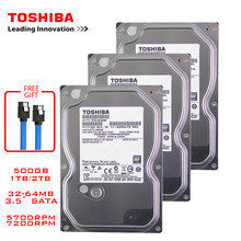 Toshiba – disque dur interne hdd de 500 go pour ordinateur de bureau, interface SATA3, mémoire tampon de 3.5 à 5700 RPM, 6 Gb/s, 1 to, 2 to