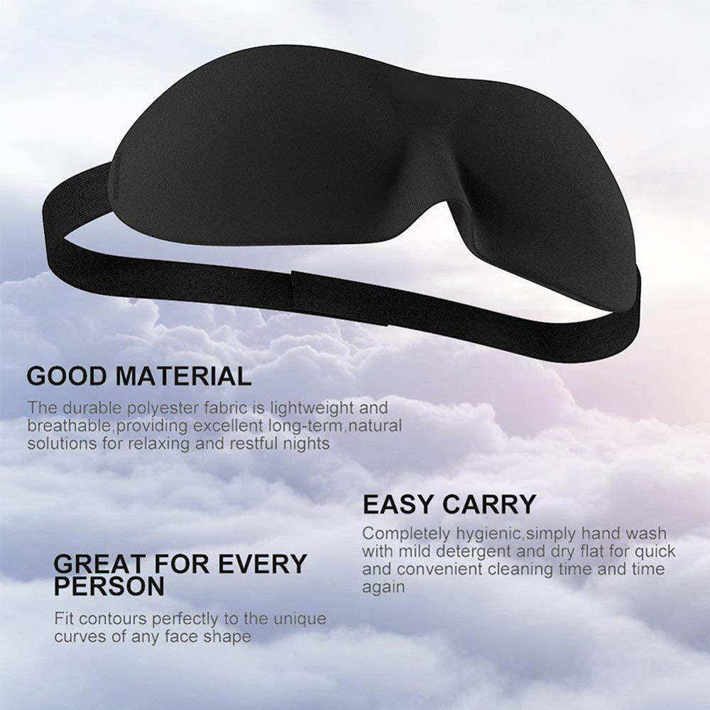 1PCS 3D Sleep Mask Natural Sleeping Eye Mask Cover Eye Shadow Male Eye Patch Portable Soft Travel Sale Eyepatch  Help Relax