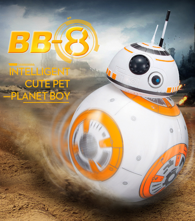 Star Wars <font><b>Robot</b></font> Intelligent Upgrade <font><b>RC</b></font> <font><b>BB8</b></font> With Sound Action Figure Gift Toys BB-8 Ball <font><b>Robot</b></font> 2.4G Remote Control Toy For kids image
