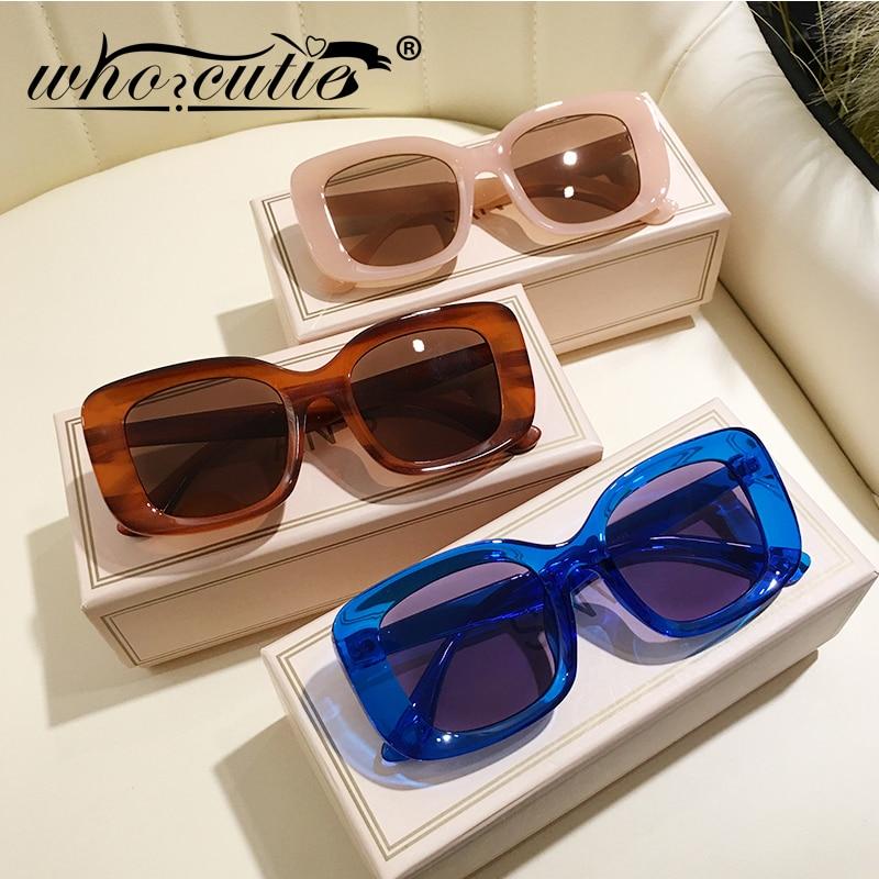 Couleur nue gros carré surdimensionné lunettes de soleil femmes 2020 marque Design haute qualité épais cadre rétro lunettes de soleil nuances S259B