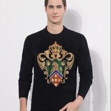 Korean Solid Long Sleeve Hoodies Men sweater Casual Diamond stone design Tops Fashion Youth Hoodie Men