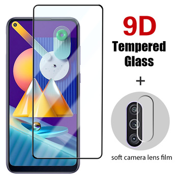 2IN1 Camera film Screen Protector for samsung M31S 9D Full Cover Tempered Glass for Samsung M10 M11 M20 M21 M30 M31Prime M40 M51 image