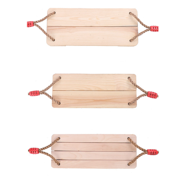 Wooden Chair Garden Swings with Rope 5