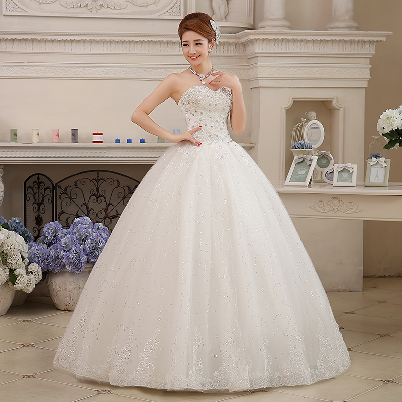 Wedding Dress Plus Size Bride Large Size Strapless Diamond Wedding Dresses Ball Gowns Bridal Princess Embroidery Dresses