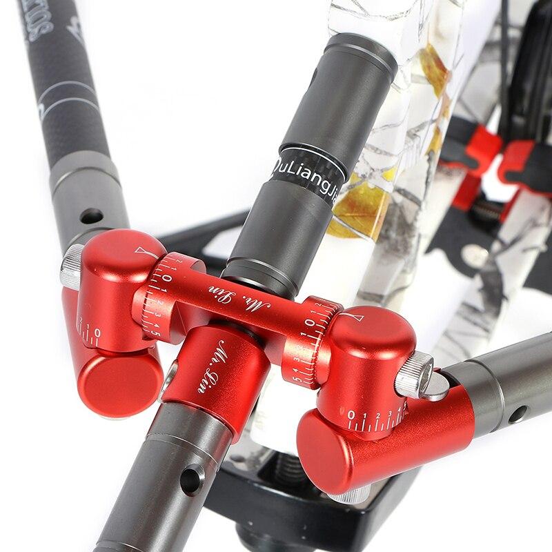 1pcs Archery V Bar For Balance Rod Stabilizer 0/5/10 Angle Adjustable Tactical Shock Absorber Damper For Compound Bow