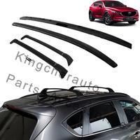4Pcs left right front rear Aluminium roof rack rail cross bar crossbar fits for Mazda CX 5 CX5 2017 2018 2019 2020 protector
