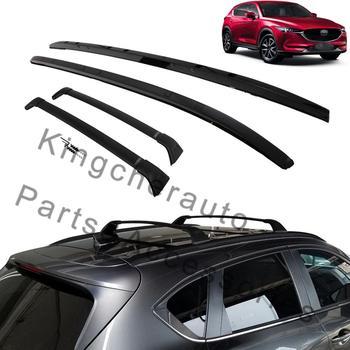 4Pcs left right front rear Aluminium roof rack rail cross bar crossbar fits for Mazda CX-5 CX5 2017 2018 2019 2020 protector