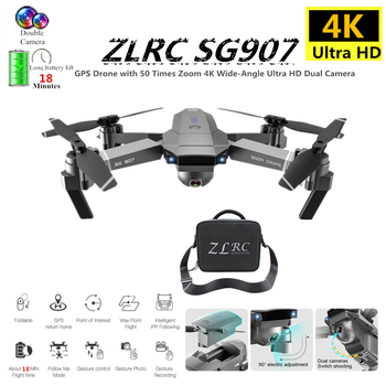 цена на GPS Quadcopter ZLRC SG907 RC Drone with 5G WiFi FPV 4K Wide Angle HD Camera GPS Follow Me Quadrocopter Foldable Helicopter Toy