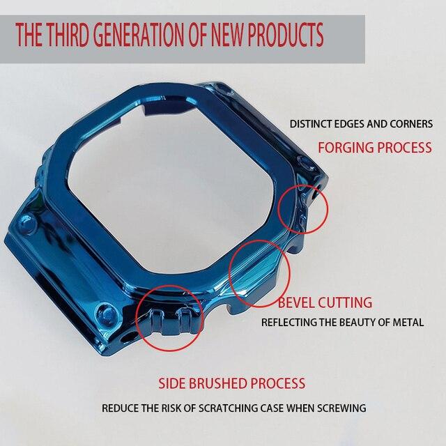Bracelet de montre MFG DW5600 Bracelet de montre et boîtier en métal Bracelet en acier inoxydable accessoires de ceinture en acier