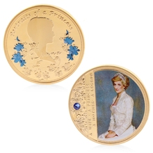 Diana памятная монета медная коллекция подарок ior задняя память с Цинковым Сплавом