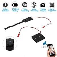Wifi Mini Camcorder DIY Portable Mini Camera HD 1080P P2P / IP Micro Camera Infrared Cam Motion Detection DVR Video recorder
